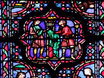 Detail from window in Sainte Chapelle