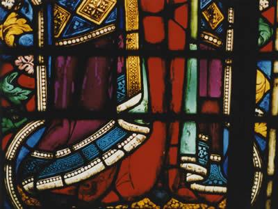 Nancy Thompson Corpus Vitrearum Image Bardi Drapery stained glass